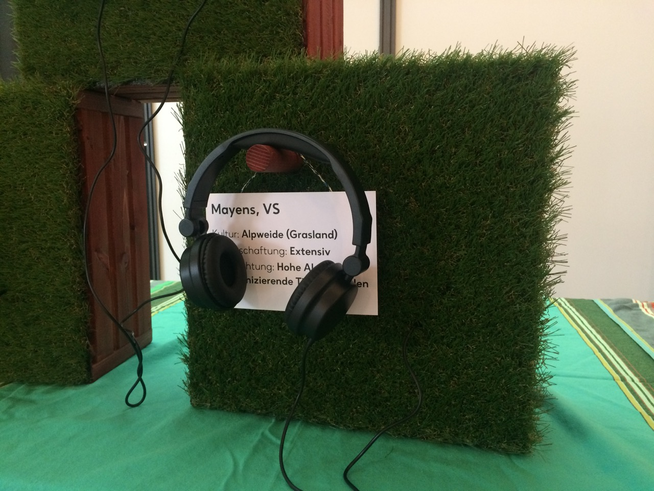 The visitors can listen to 5 recorded floor sounds.